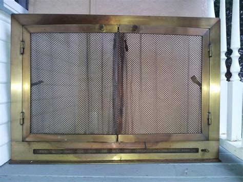 custom solid brass vented fireplace doors central saanich
