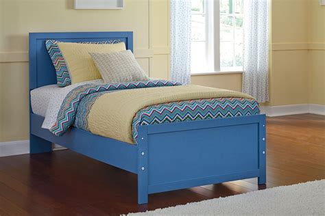 blue twin bed bronilly blue twin panel bed b045 52 53 82 ashley furniture