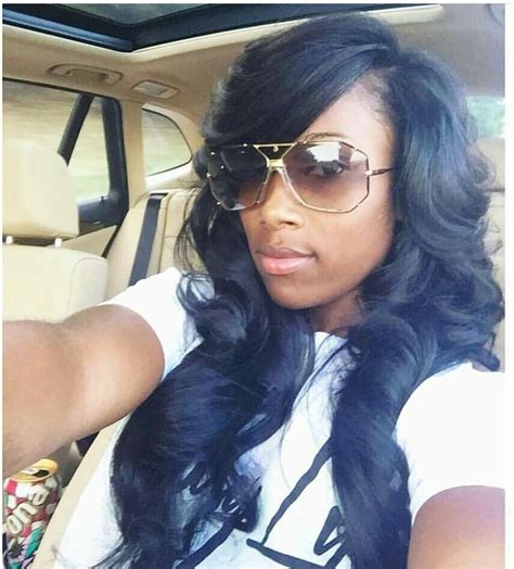 how to sewn in bang hair style on weave side part with bang sew in hairstyles pinterest sew
