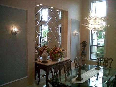 Mirror In Dining Room Interior Design by Mirror Wall