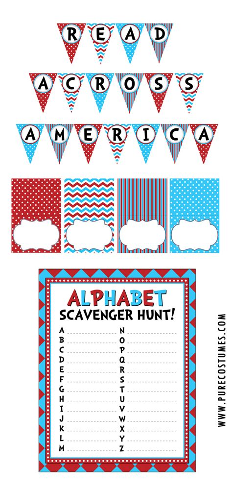 printable reading banner free read across america day printables
