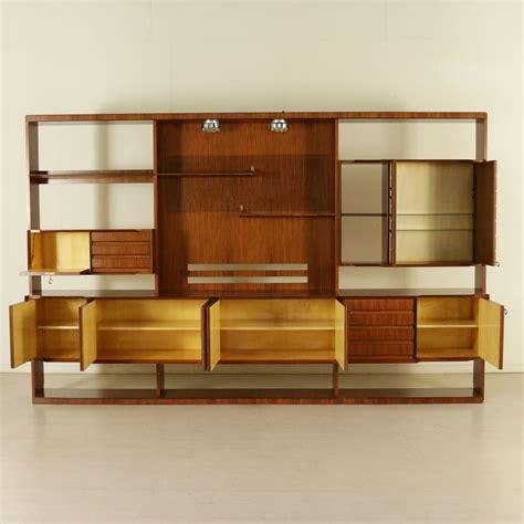italian design mid century modern wall unit in rosewood modernism