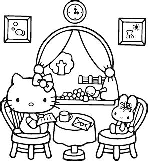printable coloring pages of hello kitty and friends free coloring pages