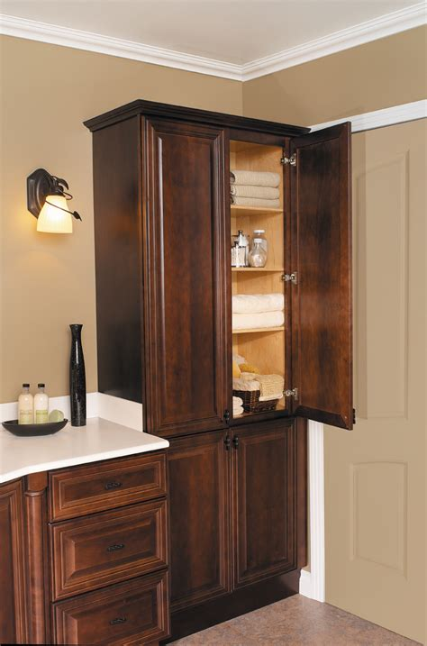 Bathroom Vanities With Linen Cabinet Endearing Corner Linen Cabinet Designs For Bathroom Furniture Eddyinthecoffee Design