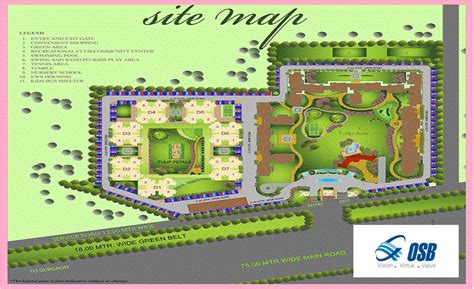 site plan of osb sector 69 key 4 you