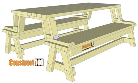 free folding picnic table bench plans pdf folding picnic table plans easy to build projects