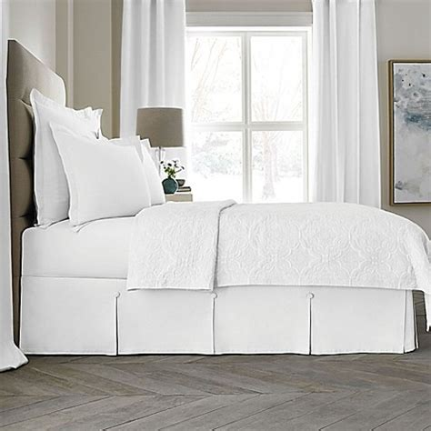 california king bed skirt buy wamsutta collection 174 button pleated 15 inch california king bed skirt in white