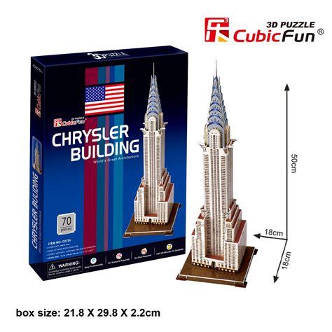 Puzzle 3d By Cubic cubic 3d puzzle quot chrysler building quot 70 pieces