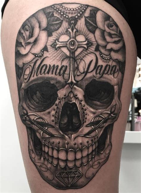 great sugar skull tattoo inkstylemag