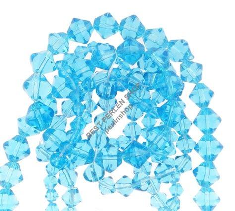 Aufkleber Drucken Lassen Braunschweig by 150 Glasperlen Doppelkegel Perlen Rhomben Blau Glas 4 6 8