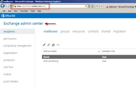 Office 365 Portal Url How To Add Exchange Admin Center Eac To Office 365 P