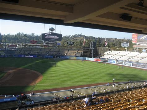 sectioned under 136 dodger stadium section 136 rateyourseats com