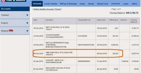 hdfc bank change of address hdfc deducts money from my account automatically amb chrg