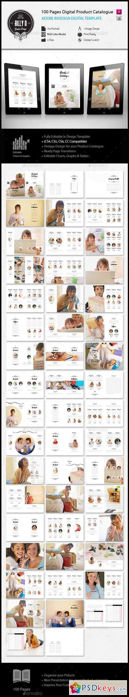 100 Pages A4 Digital Product Catalogue Template 11909003 187 Free Download Photoshop Vector Stock Digital Catalog Template
