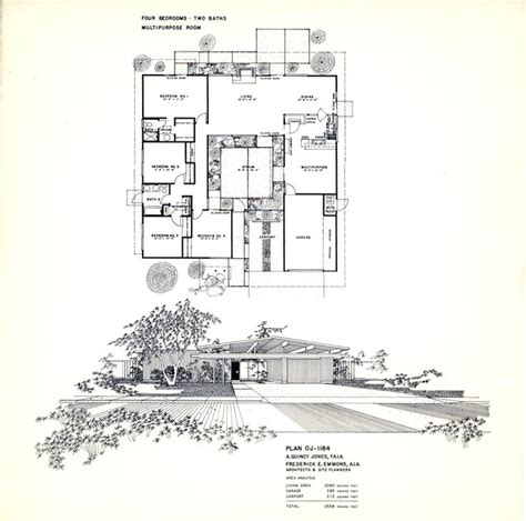 eichler atrium floor plan floor plan for an eichler home designed by a quincy jones