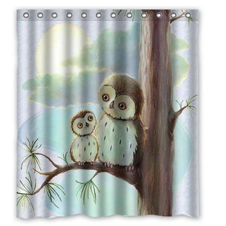 owl shower curtain hellodecor owl shower curtain polyester fabric bathroom decorative curtain size 60x72 inches