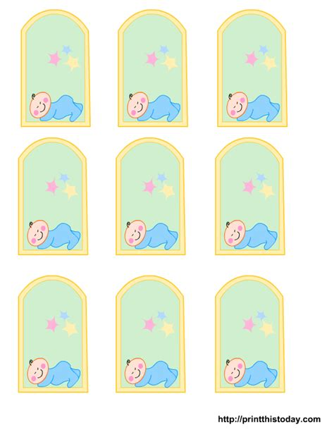 Favor Cards Template by Free Printable Baby Boy Baby Shower Favor Tags