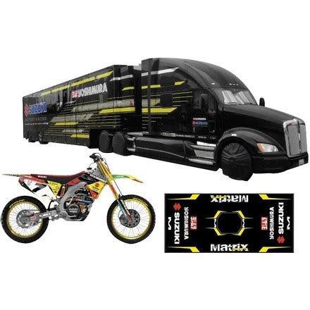 toy motocross new ray toys james stewart yoshimura suzuki gift set