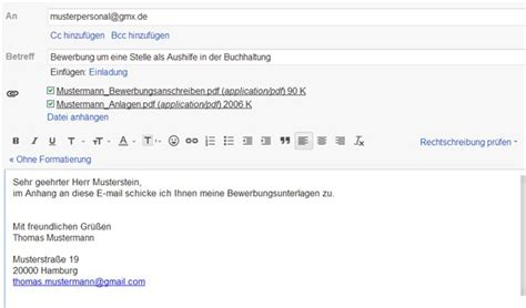 Email Bewerbung Was In Mail E Mail Bewerbung Text Lebenslauf