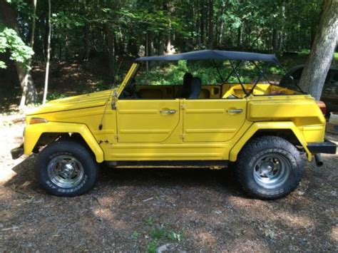 volkswagen thing yellow purchase used rare unique 1974 vw volkswagen thing 181