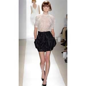 Kei black silk mini bubble skirt thisnext