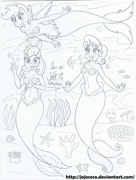 my little pony sirens coloring pages my little pony cutie mark crusaders sirens by jojocoso on