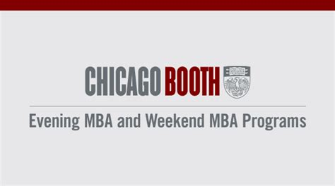 Chicago Weekend Mba Programs by Ewadmissions The Of Chicago Booth School Of