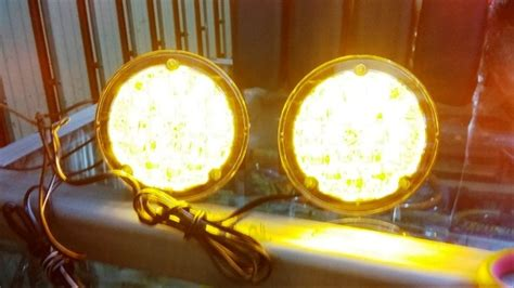 jual foglamp lampu tembak kabut tanduk depan  road led