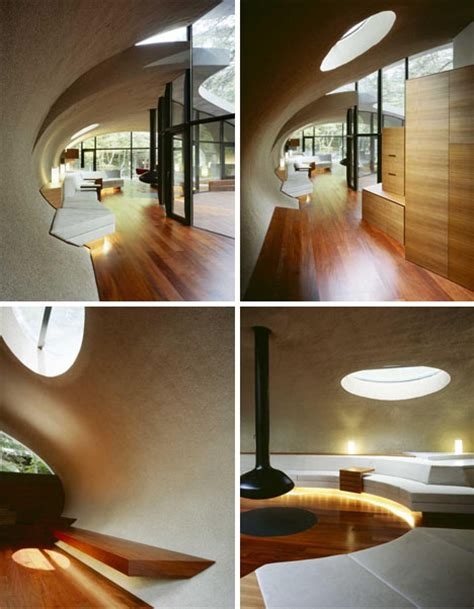 Curve Interior Design by Shell House Design Spectacularly Curved Architecture