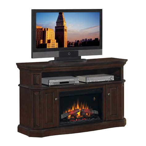 electric fireplace logs lowes shop chimney free 60 quot walnut electric fireplace at lowes