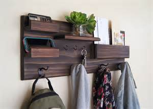 Entryway Hooks by Entryway Organizer Wall Mounted Floating Shelf Mail Storage