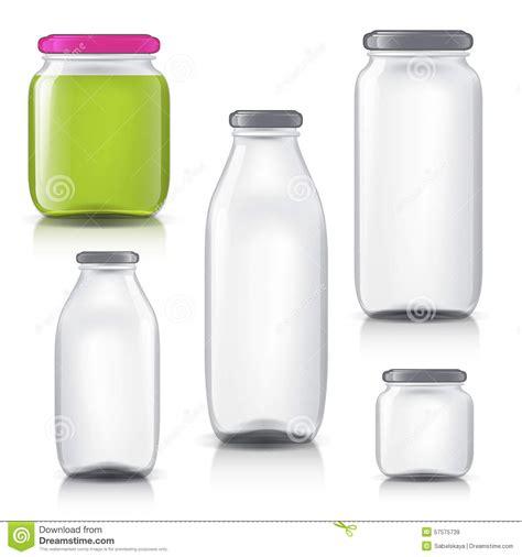 Glass Bottles Empty Transparent Set Template Of Stock Vector Illustration Of Pattern Color Bottle Design Template