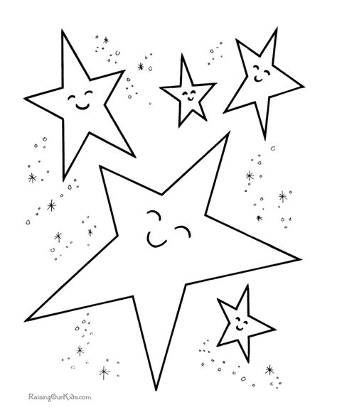 stars preschool coloring pages free printable coloring