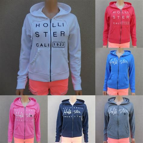 HOLLISTER GIRLS HOODIE Brooks Beach All Sizes NWT RED ... Hollister Sweaters For Girls Grey