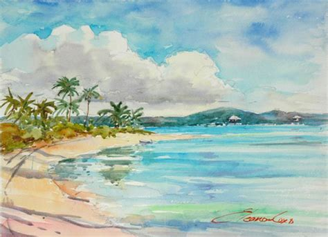 watercolor tutorial beach beach watercolor www imgkid com the image kid has it
