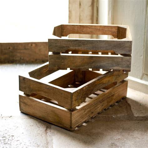 solid wood bushel boxes by nkuku notonthehighstreet