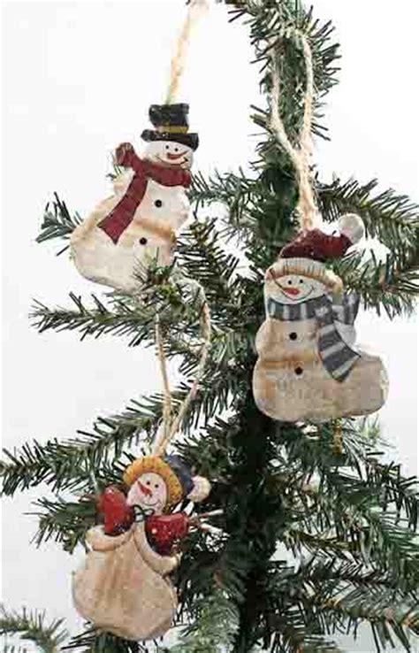 primitive snowman christmas ornaments christmas and