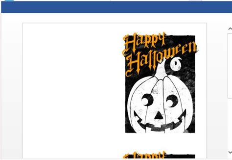 printable halloween note cards how to create printable halloween greeting cards in word