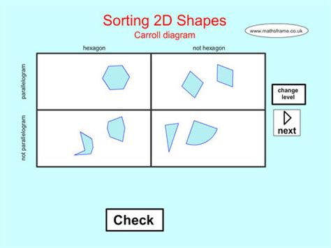 sorting 2d shapes carroll diagram on the app store