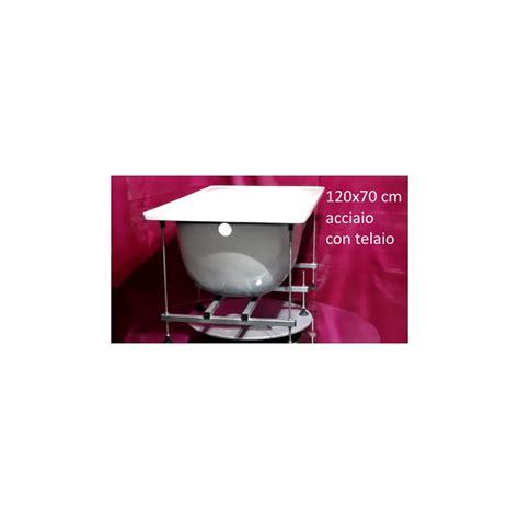 vasche acciaio smavit vasca 120x70 cm con telaio in acciaio smatato bianco