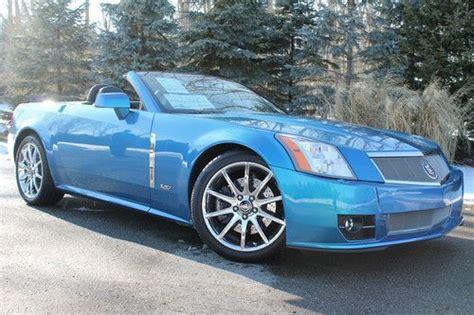 find new 2009 cadillac xlr v convertible 2 door 4 4l very rare elektra blue show car in las