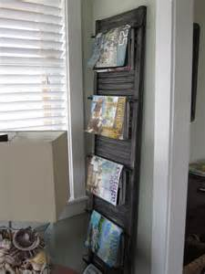 creative reuse closet door to magazine holder repurposed