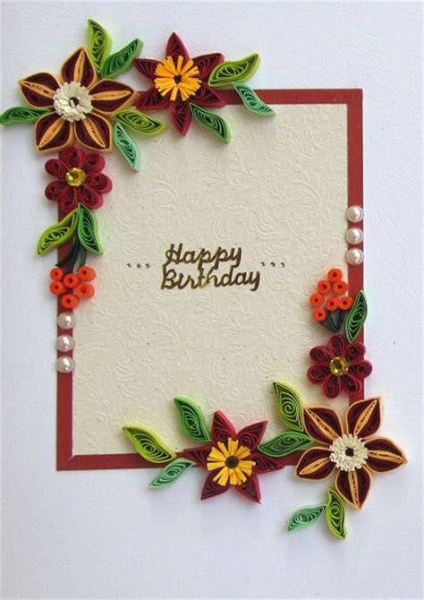 How To Make Paper Quilling Greeting Cards - 545 best quilled birthday cards images on