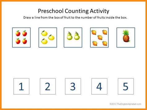 worksheets for preschoolers counting counting activity for preschool popflyboys