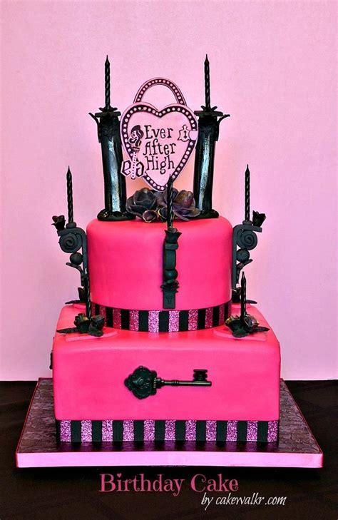 high birthday cake  fashion dolls   fairy tale boarding school
