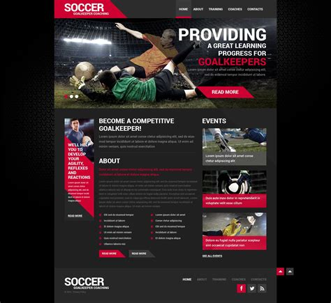 Soccer Responsive Website Template 50452 Sports Website Templates