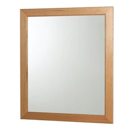 oak framed mirrors bathroom shop allen roth castlebrook oak 30 in h x 36 in w light