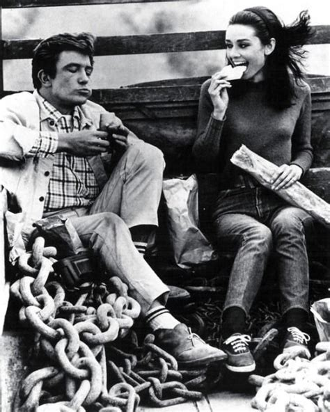 audrey hepburn and albert finney albert finney and audrey hepburn on the set of two for the