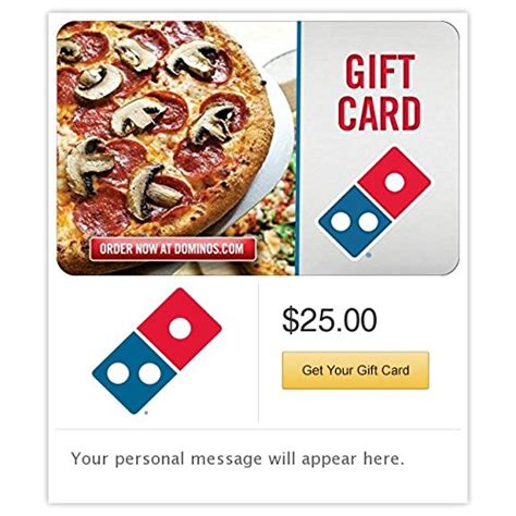 dominos pizza gift cards e mail delivery - Ihop Gift Card Phone Number