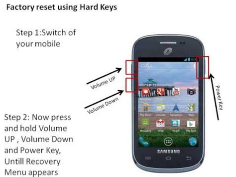 how to hard reset factory reset samsung galaxy ace 3 s7270 s7275 samsung galaxy centura hard factory reset youtube